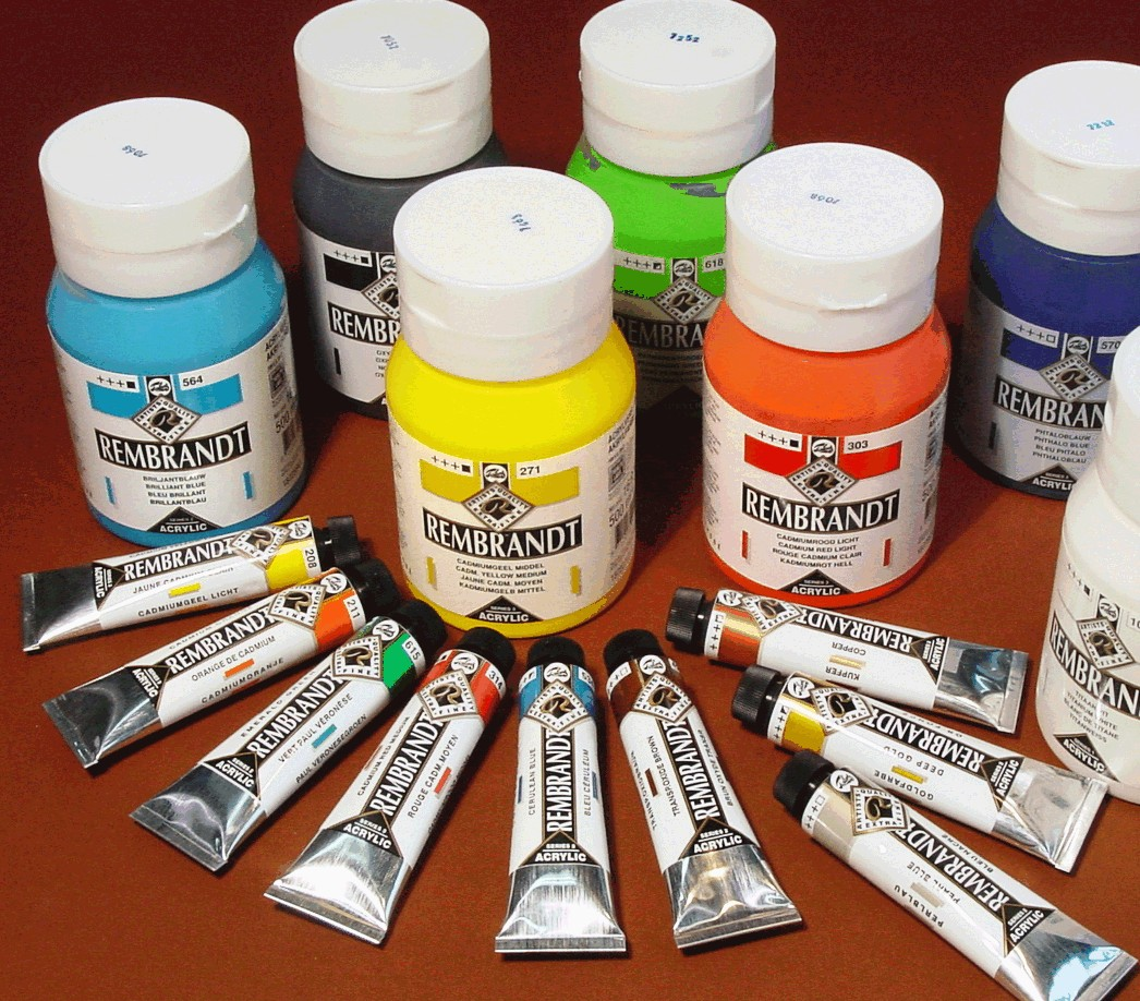 Acrylic paints for How to paint with acrylic colors